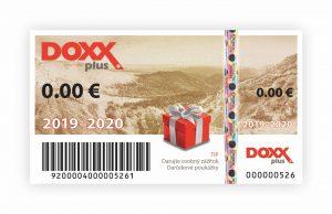 Benefitné darčekové poukážky DOXX Plus na roky 2019-2020