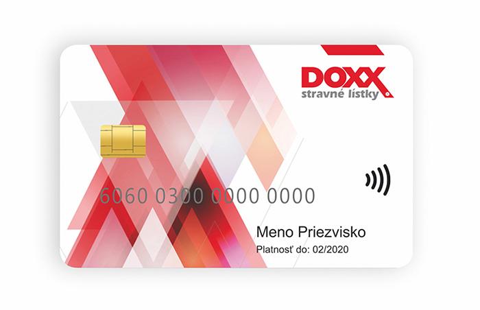 Karta DOXX - predná strana
