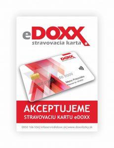 Stravovacia karta DOXX akceptačná nálepka