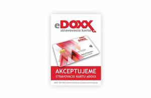 Stravovacia karta DOXX akceptácia