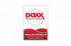 Označenie prevádzok, kde platia papierové stravné lístky DOXX