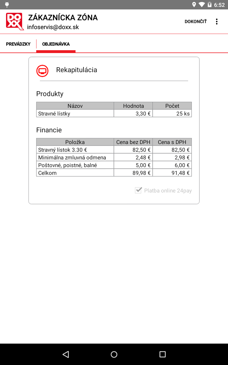 ee2845497 objednavka rekapitulacia 188x300 - Objednávka