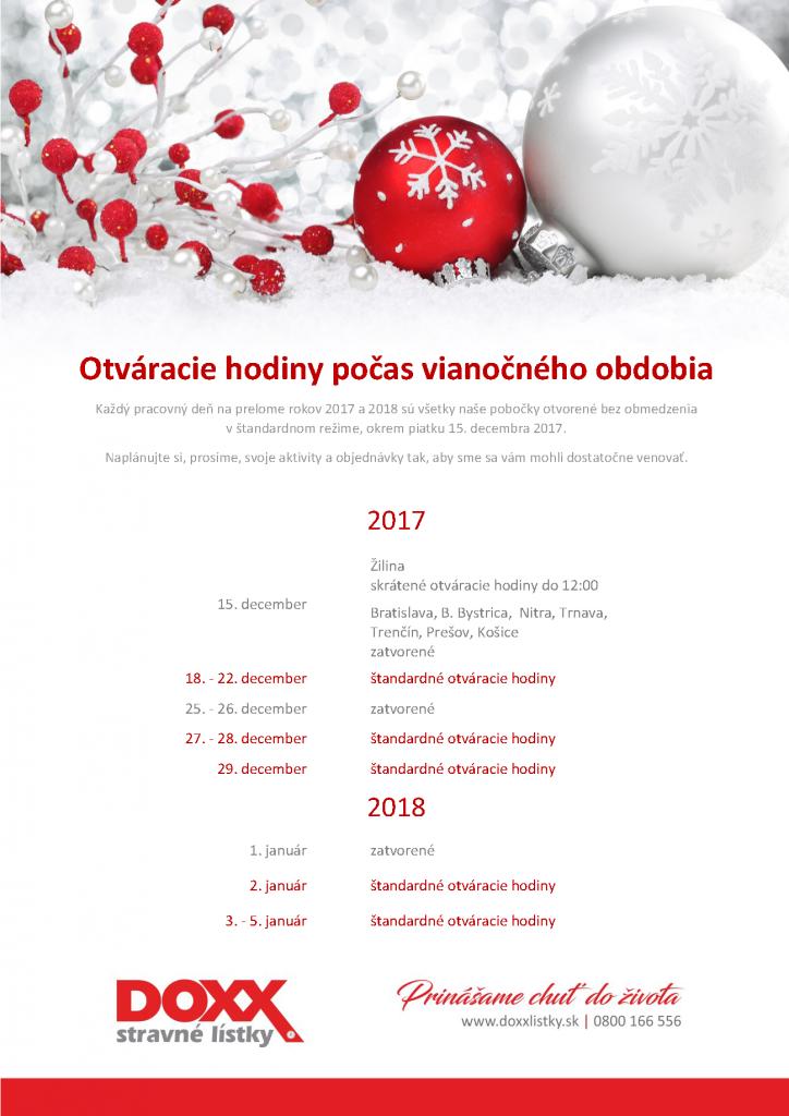 DOXX OH 2017 2018 724x1024 - Otváracie hodiny počas vianočného obdobia