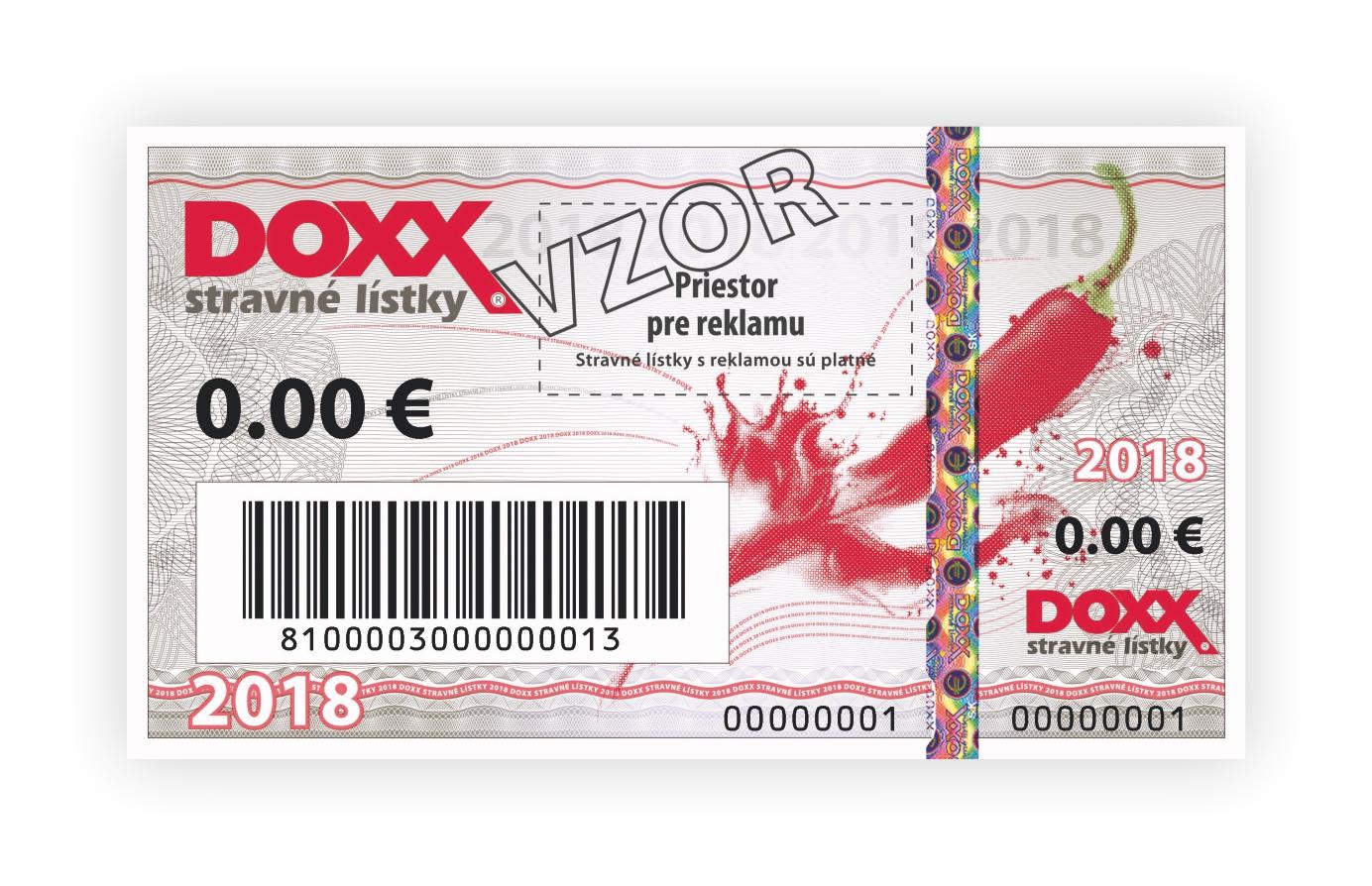 DOXX Stravné lístky 2018 predná strana - Vzory - slider