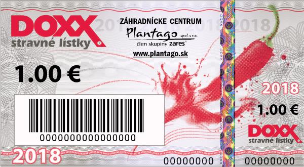 DOXX Stravne listky reklama na listkoch Plantago - Zrealizované vzory - slider