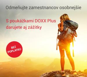 Darčekové poukážky DOXX Plus na motiváciu zamestnancov. Do konca júna bez poplatkov.