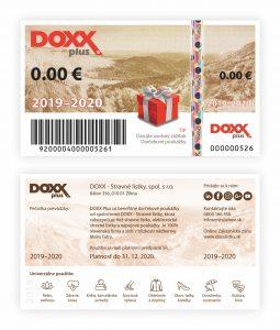 Darčekové poukážky DOXX Plus 2019 - 2020