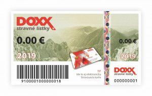 Stravný lístok DOXX_Emisia 2019_predná strana