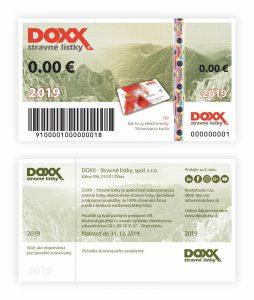 Stravné lístky 2019 - nová emisia DOXX