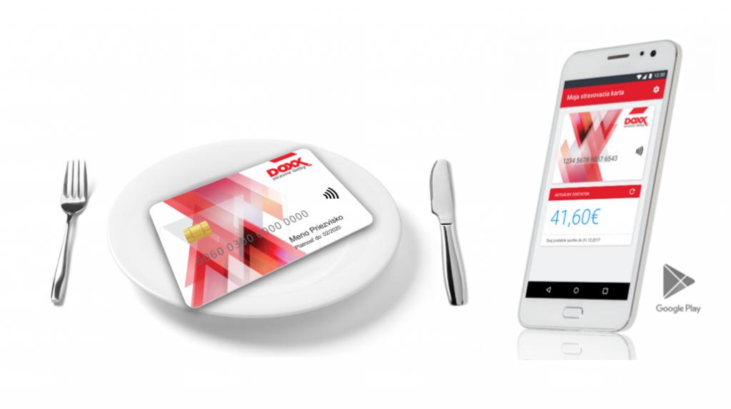 DOXX karta aj v mobile 1024x574 - Prevádzky, myslite na preplatenie e-Stravných lístkov