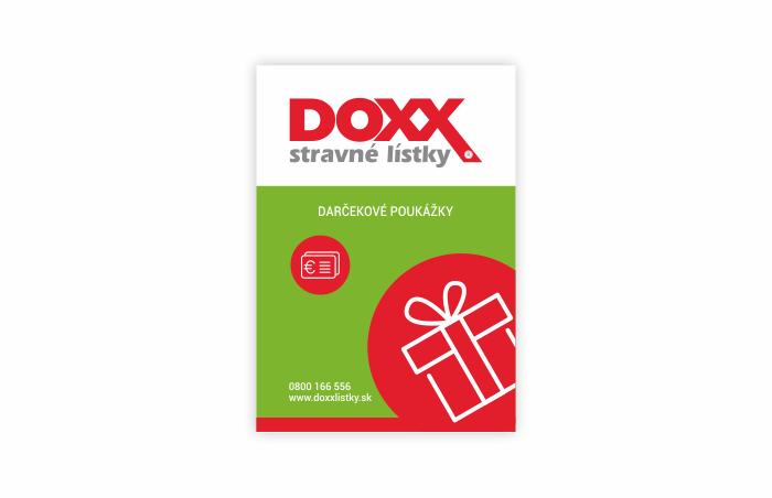 Označenie prevádzok, kde platia Darčekové poukážky DOXX Plus