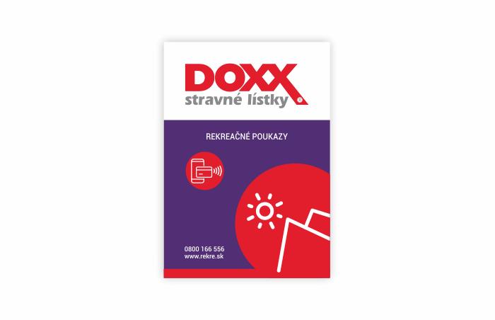 Označenie prevádzok, kde platia Rekreačné poukazy DOXX