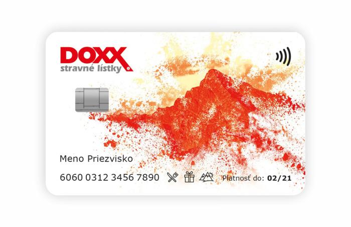 Inovovaná Karta DOXX 2019 (predtým Stravovacia karta) - predná strana