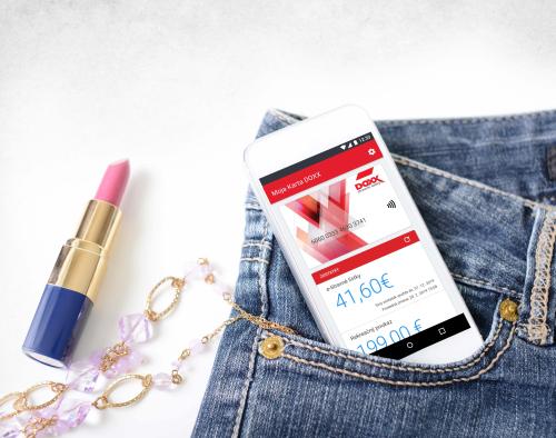 DOXX Stravne listky Aplikacia Karta v mobile - Úvodná stránka