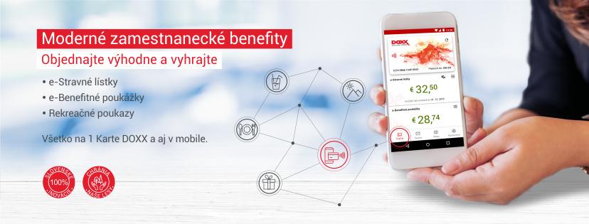 DOXX Stravne listky moderne elektronicke zamestnanecke benefity s vyhrou - Moderné zamestnanecké benefity so súťažou