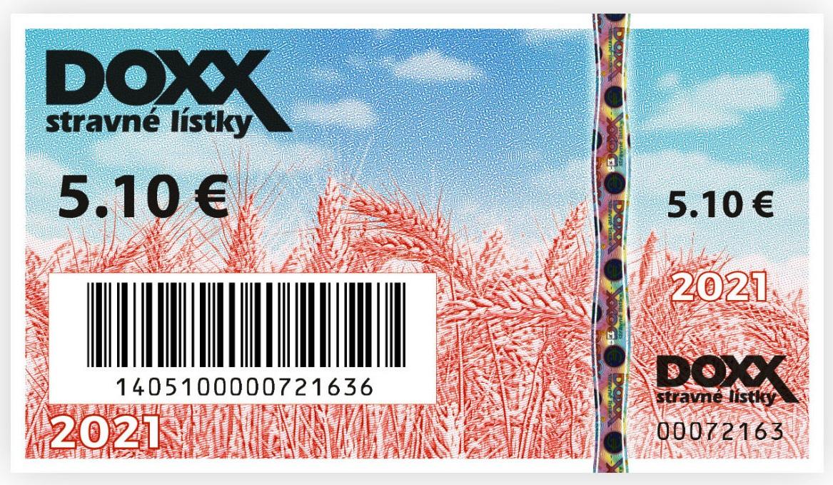 Stravne listky emisia rok 2021 DOXX - Nové stravné lístky na rok 2021