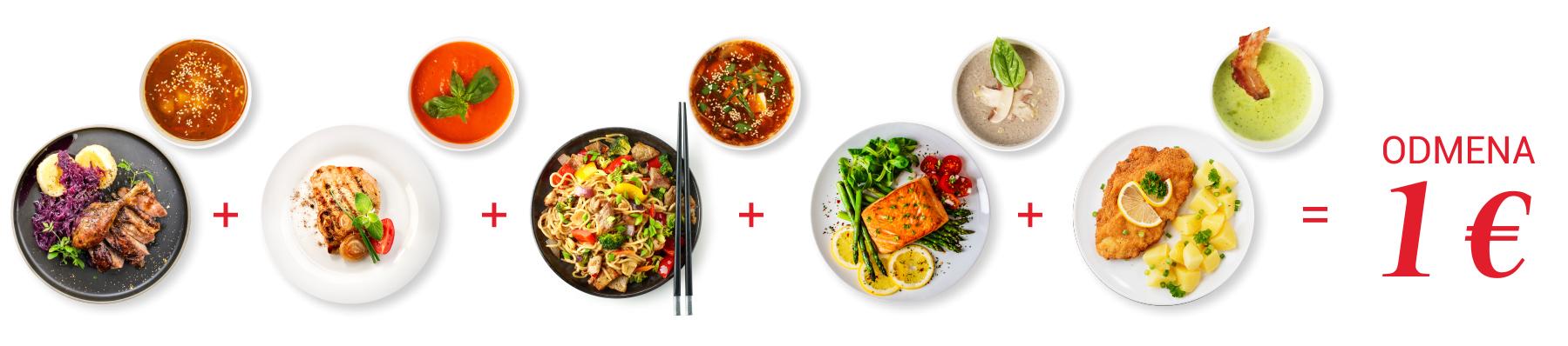 Odmena 1 € za 5 obedov | Dobrý program DOXX